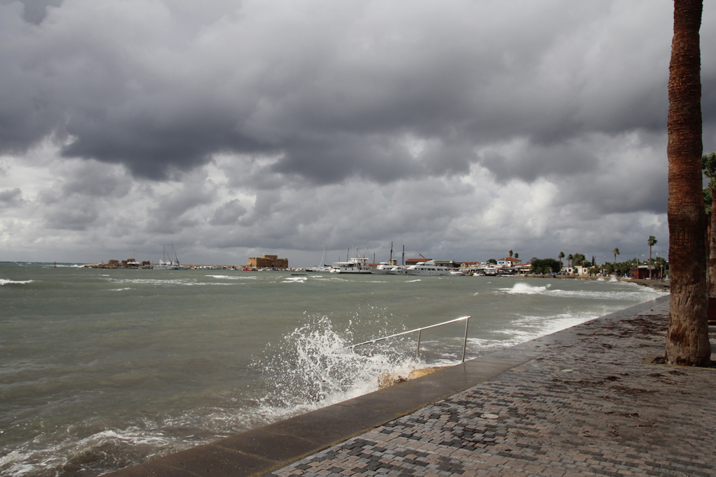 the stormy sea during December