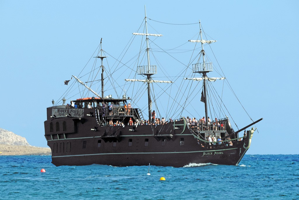 The pirate ship Black Pearl