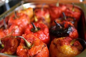 Фаршированный перец в кафе домашней грузинской кухни Julietta Sweets