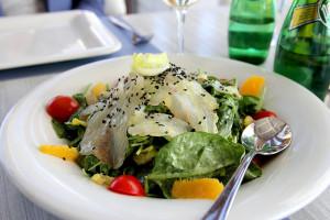 carpaccio salad at Malindi