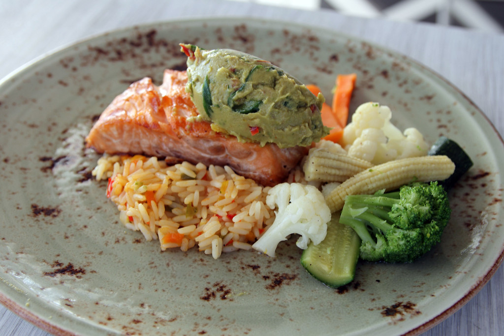 juicy salmon at Malindi