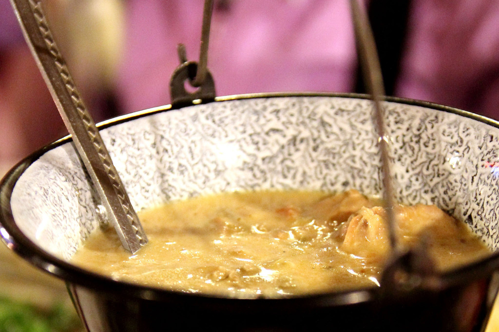 Pork stewed with cream