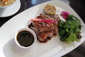 Toro steak with teriyaki balsamic sauce