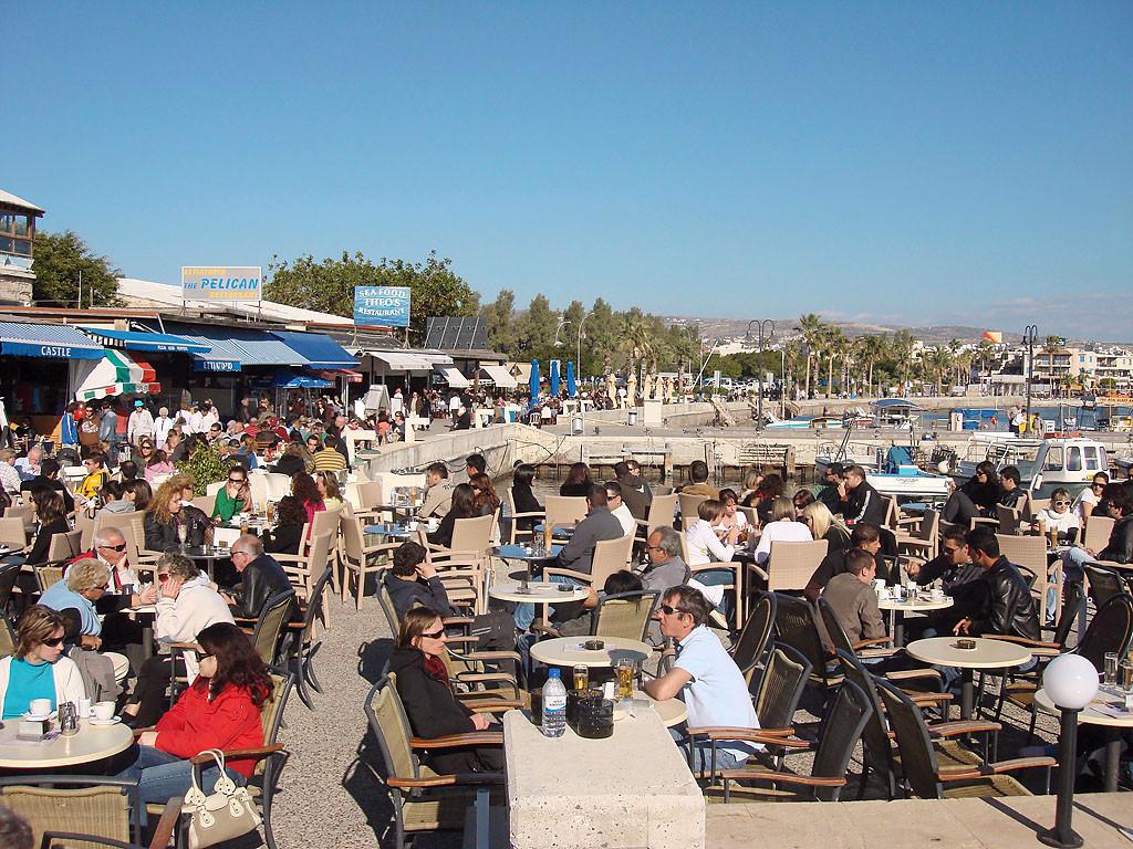 Городская гавань и набережная Пафоса