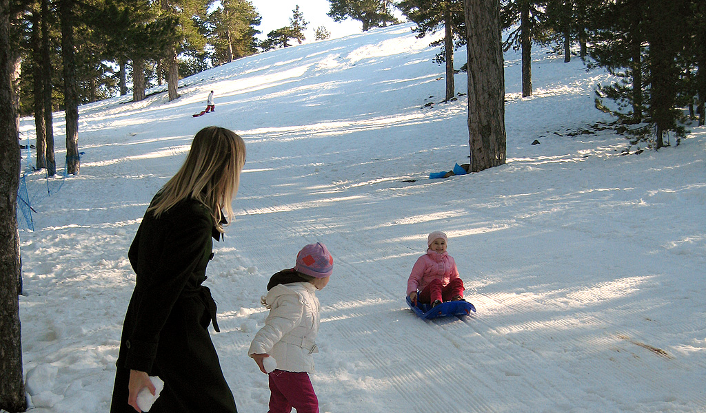 snow at Troodos mountain
