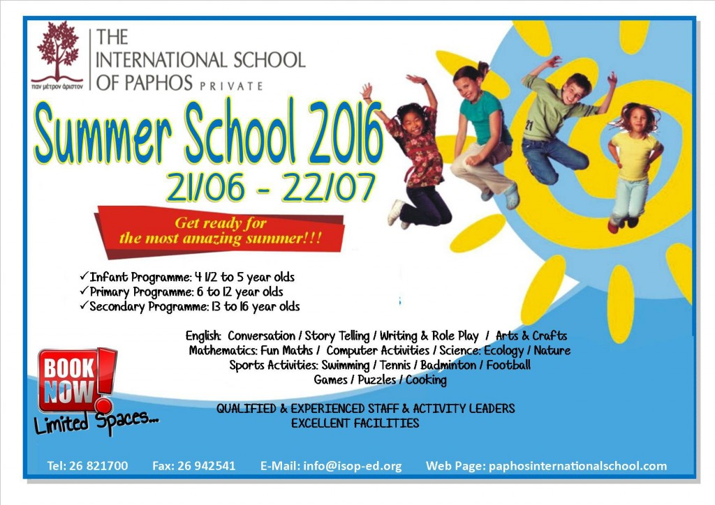 ISOP summer school 2016