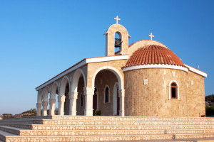 an Orthodox church in Ayia Napa