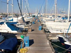 the Larnaca marina