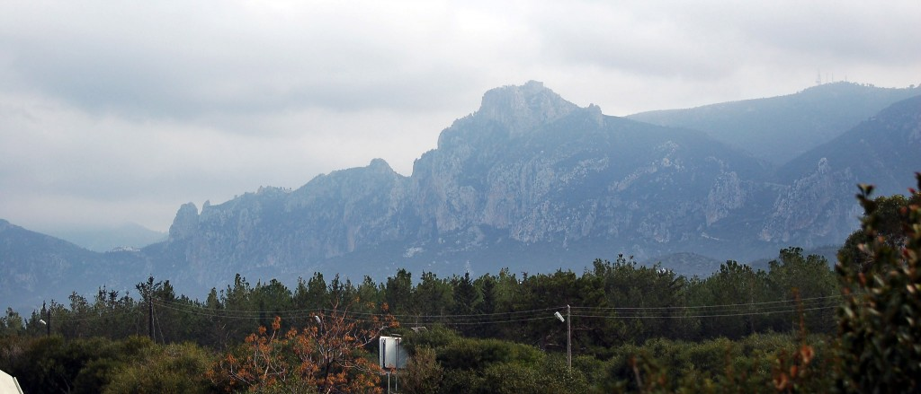 The famous mountain ridge of Pentadaktylos