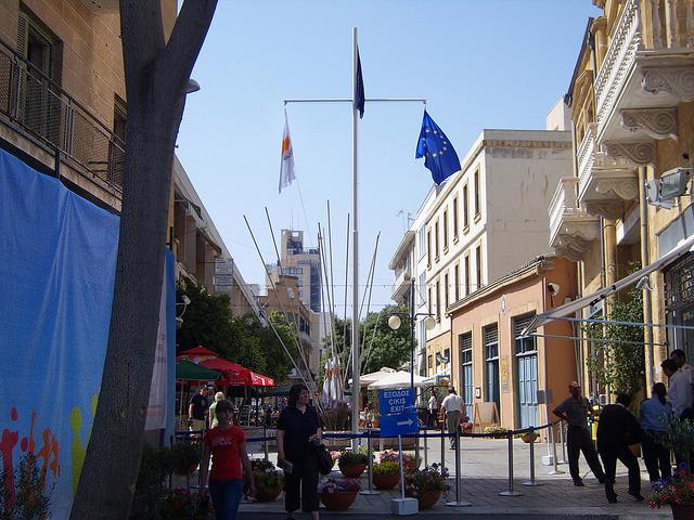 Пропускной пукнт на улице Ледра в Никосии