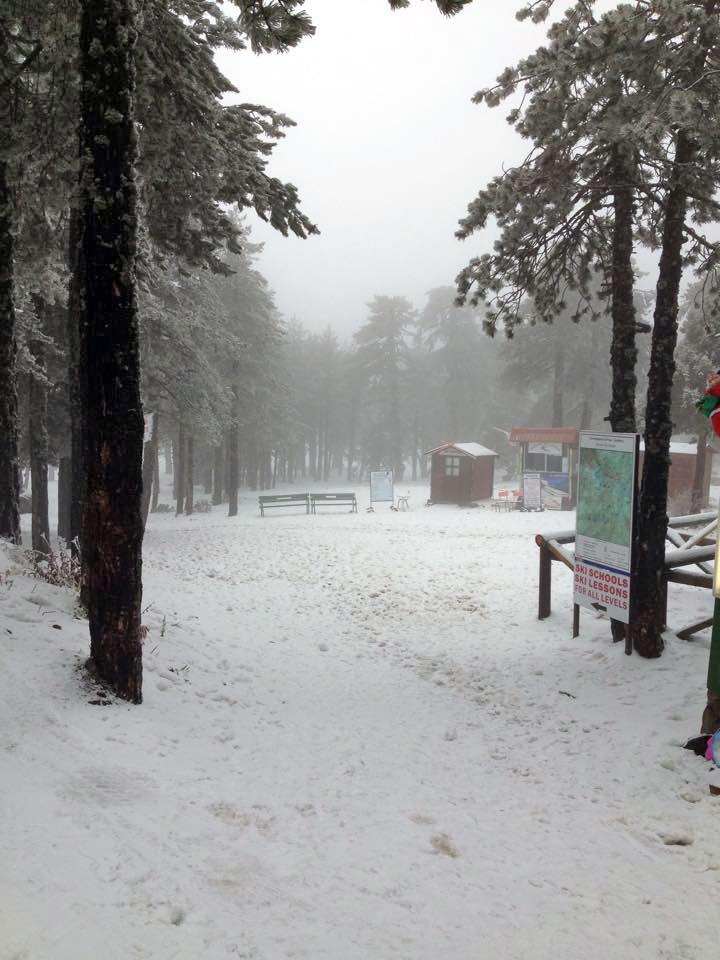Горы Тродос зимой