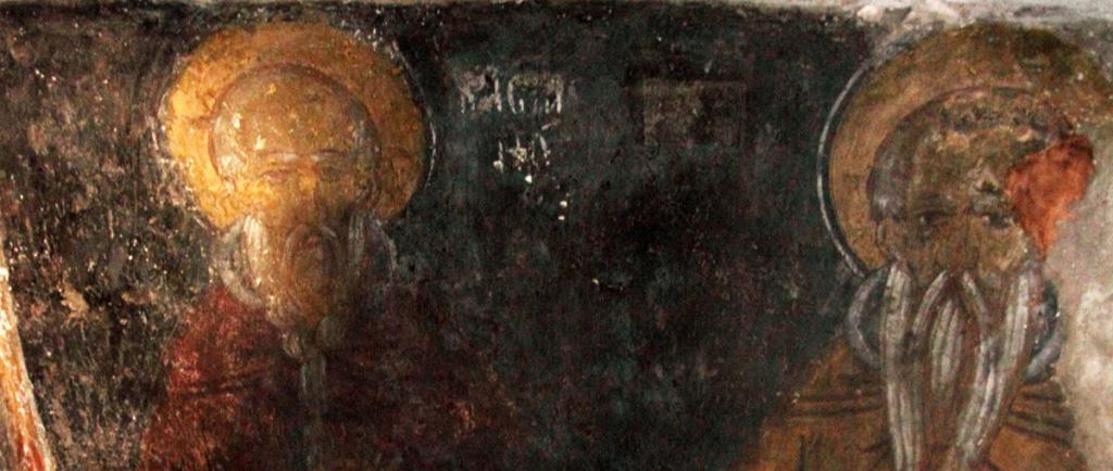 Фрески в ските святых Отцов