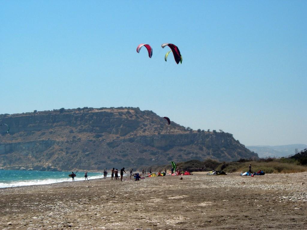 Кайтсерфинг на Кипре. Парамали