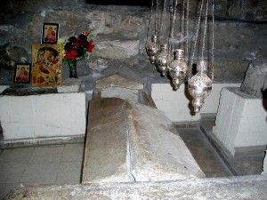 The sarcophagus of the Cathedral of St. Lazarus