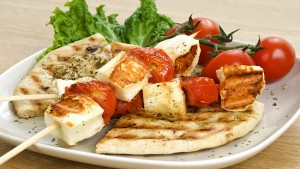 Cypriot halloumi and anari cheese