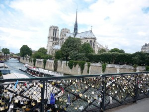 Love Bridge in Paris