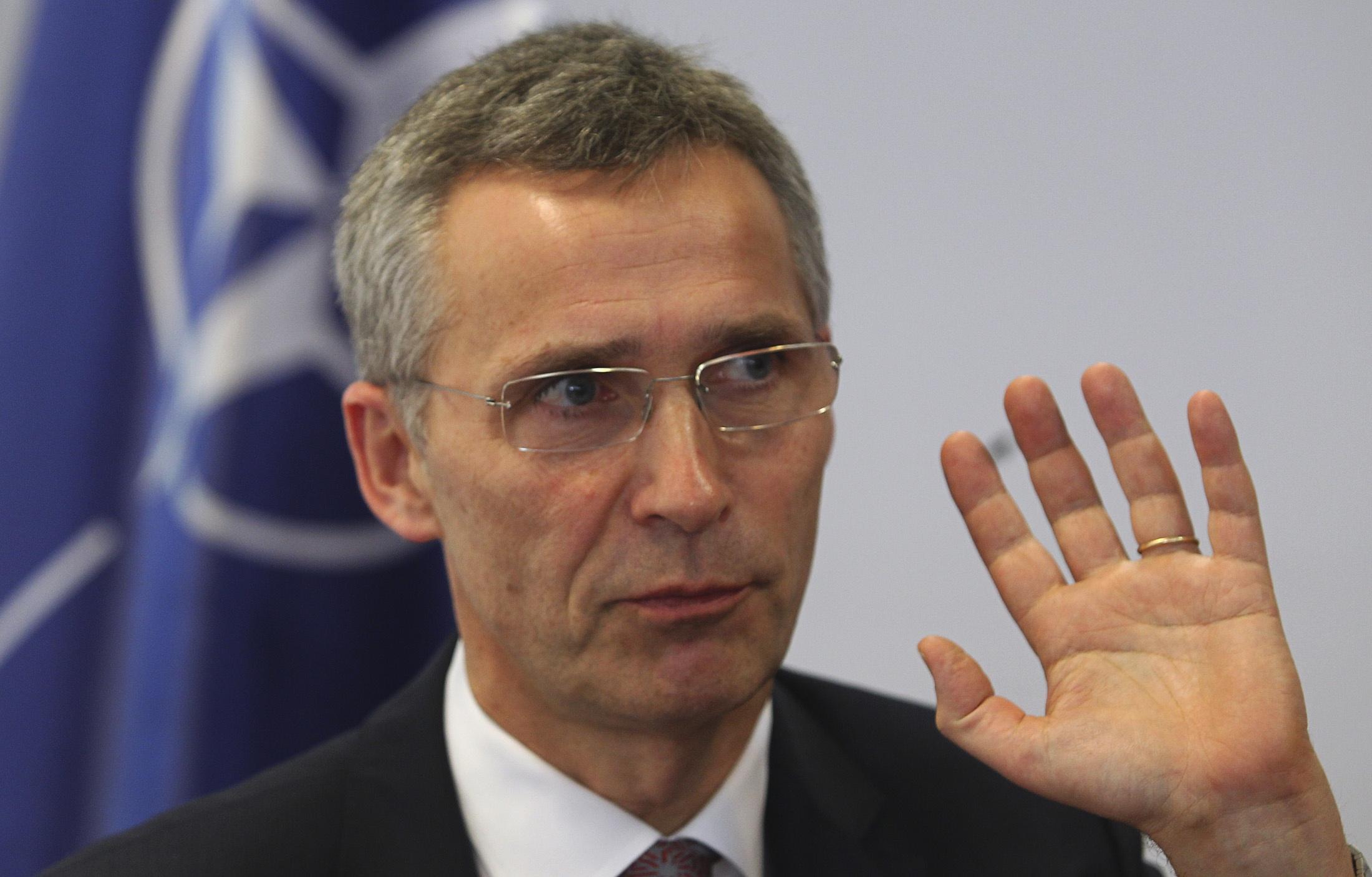 NATO Secretary-General Jens Stoltenberg speaks to Reuters in Pristina January 23, 2015. REUTERS/Hazir Reka (KOSOVO - Tags: POLITICS MILITARY)