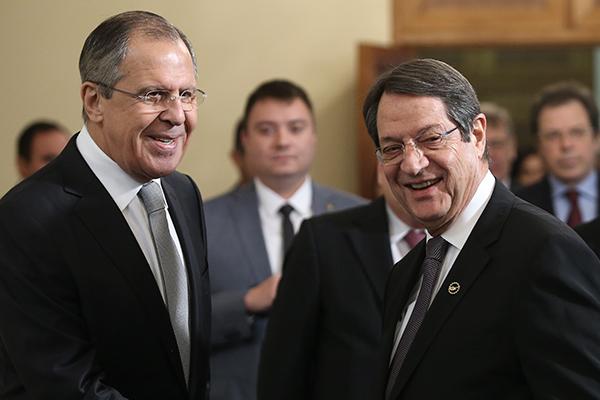 Никос Анастасиадис и Сергей Лавров