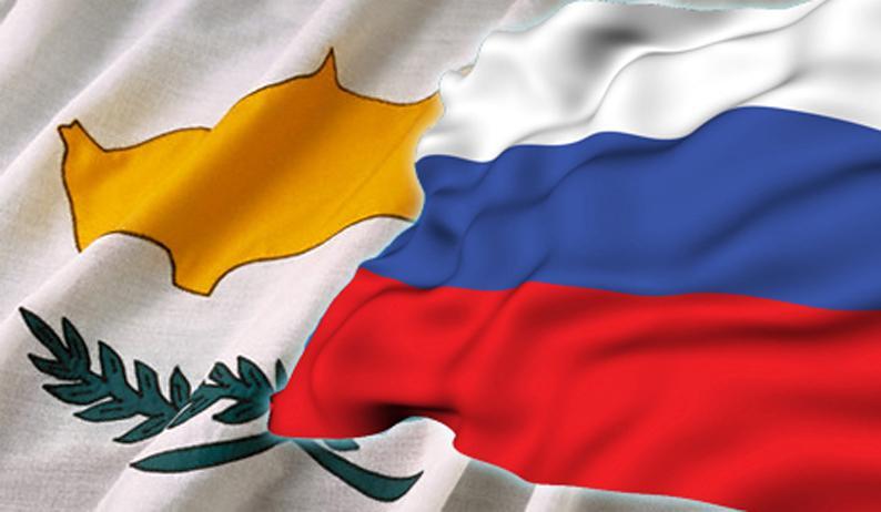 Флаги Кипра и России