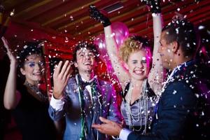 Новогодняя ночь в ночном клубе