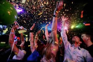 New Year Night in a nightclub