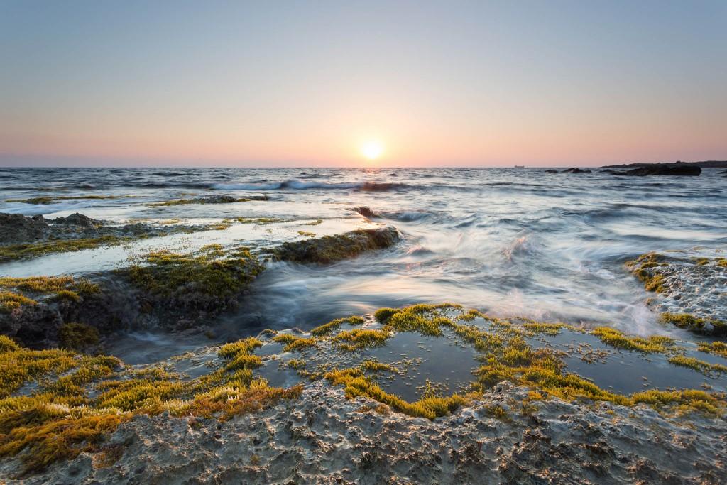 Winter sea in Cyprus