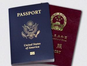 Американский и китайский паспорта