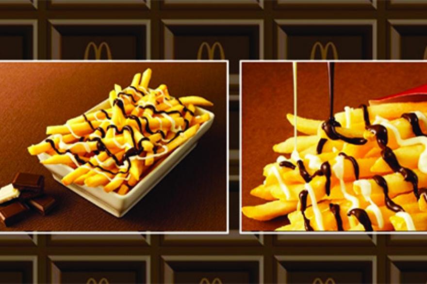 Картофель фри с шоколадом