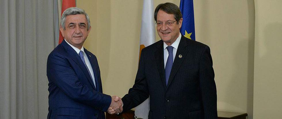 Президенты Армении и Кипра