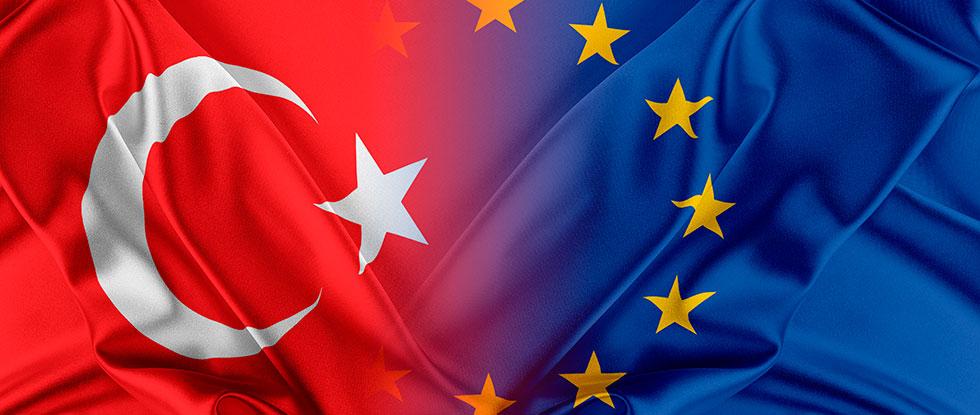 Флаги ЕС и Турции