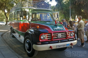 Tourist bus in Cyprus