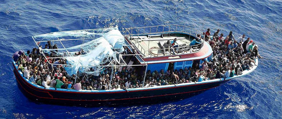 Судно с мигрантами
