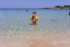 Child on Protaras beach