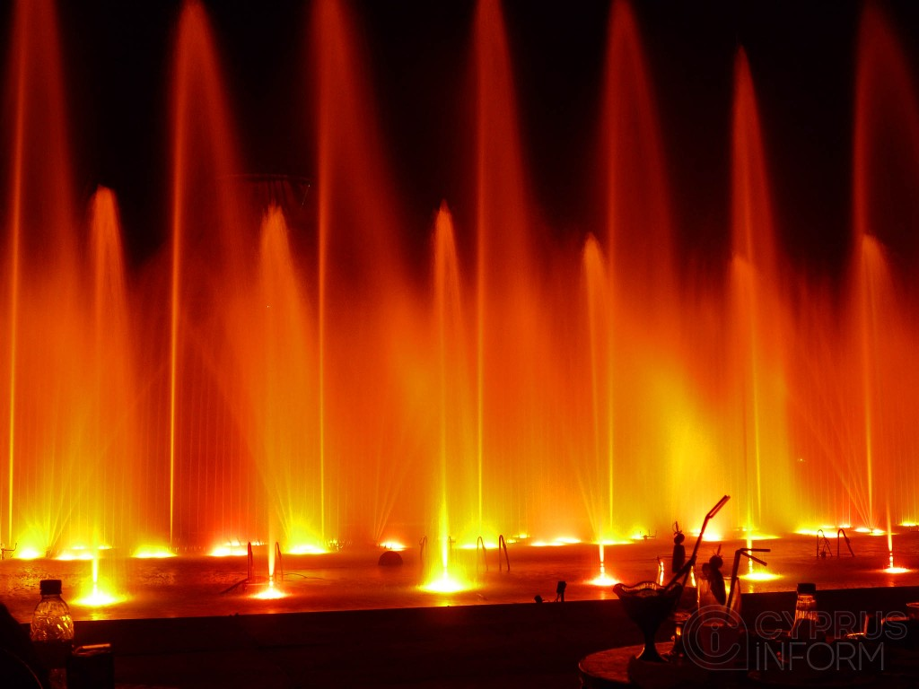 Dancing fountains in Protaras