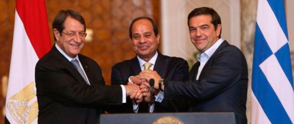 Лидеры Кипра, Греции и Египта