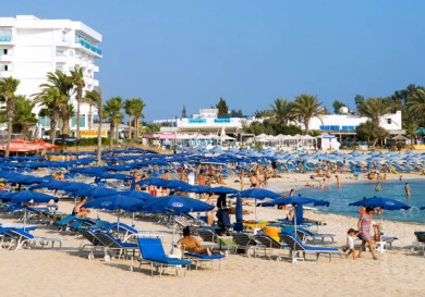 Agia Napa sandy bay