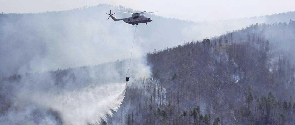 Лесные пожары на Кипре