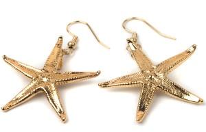 Серьги в форме звезды