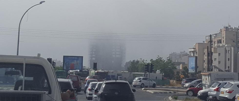 Высокий уровень пыли на Кипре