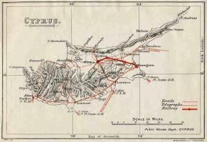 Cyprus Railway Map