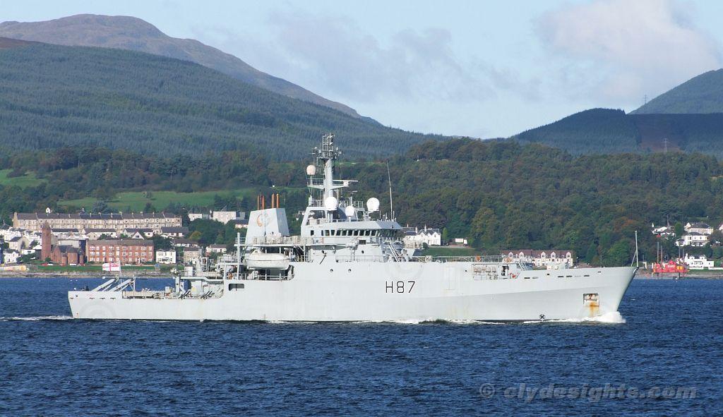 Royal Navy survey ship HMS ECHO